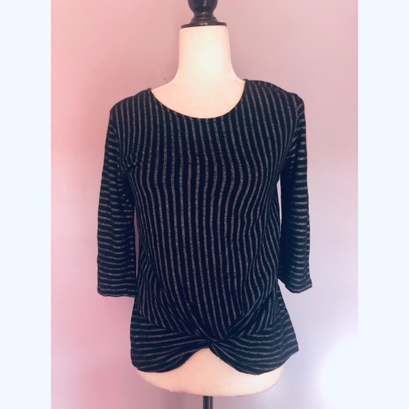 Anthropologie W5 concepts black & grey blouse